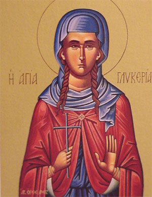 Icon of the saint of the day.