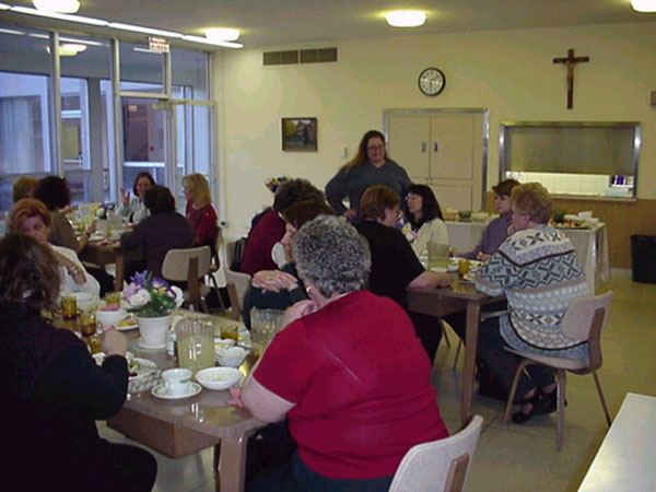 Women gather together for lenten retreat