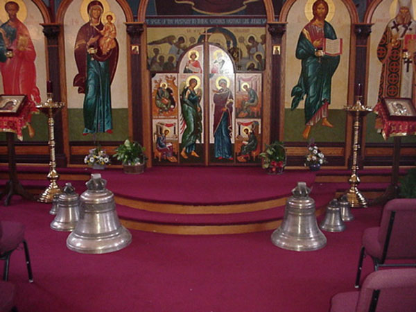 Bells in place for blessing