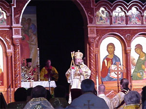 Last Liturgy celebrated by Metropolitan Theodosius as Metropolitan.