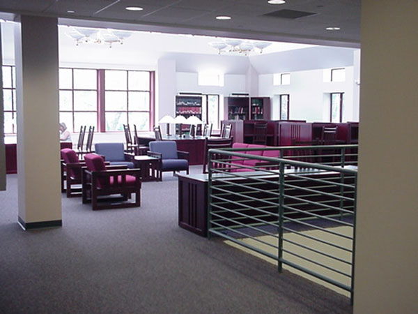 Interior view of new library