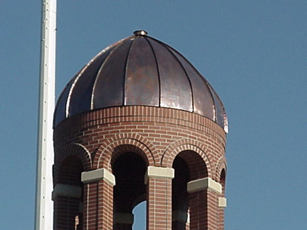 Close up of dome on bell tower