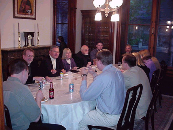 Bishop Job hosts post Pascha dinner.
