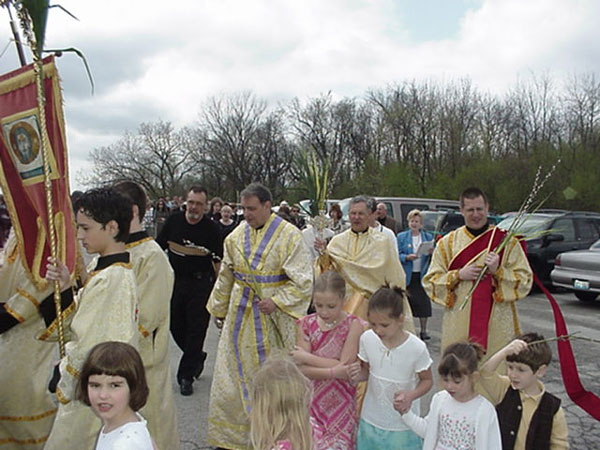 Procession With Palms.