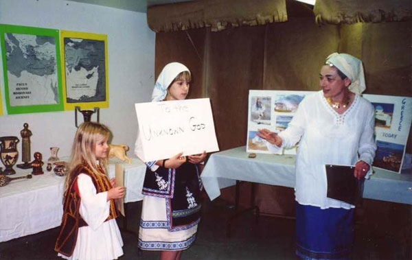 Church school visits Greece.
