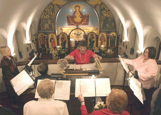 Scene from Nocturnes Of Pascha and the Resurrection Service.