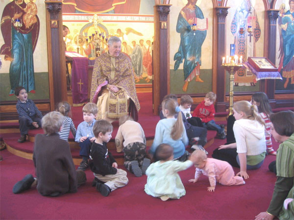 Scene from Children's Sermon on St. Gregory Palamas.
