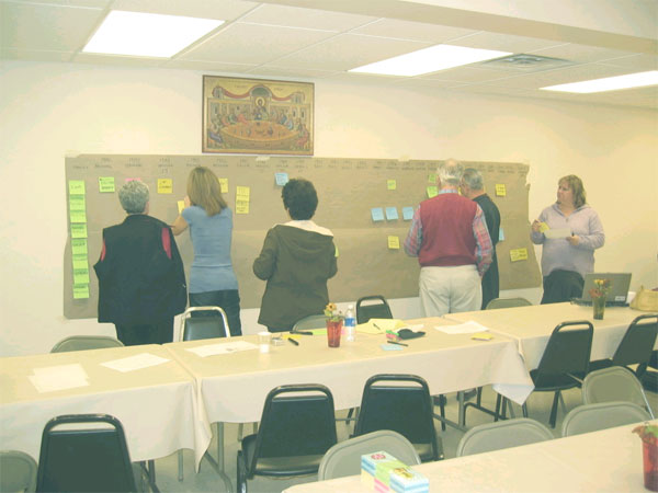 Scene from St. Lukes Holds Planning Session
