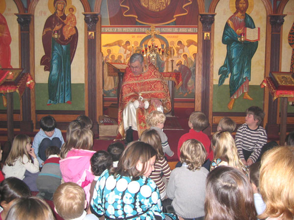 Scene from Children's Sermon On Spiritual Strength