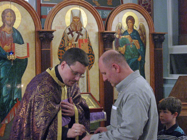 Scene from Wednesday Holy Unction Service.