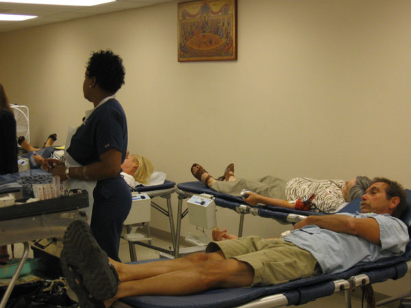 Scene from St. Lukes Hosts Annual Blood Drive.