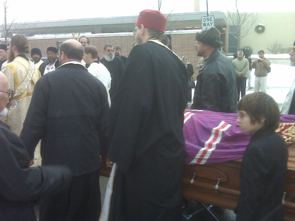 Scene from Funeral Services For Archbishop Job.