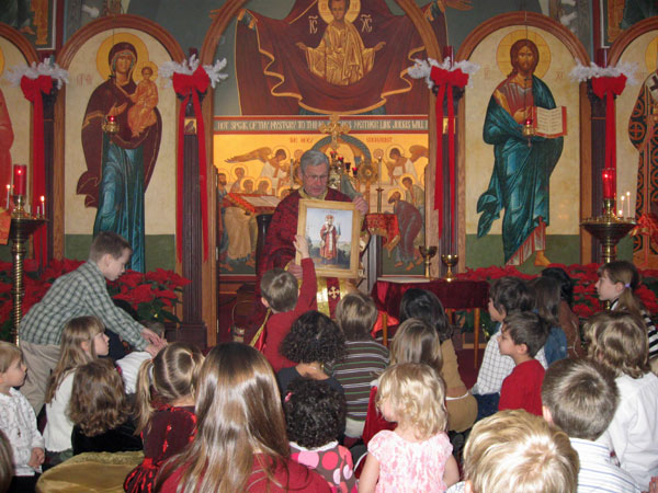 Scene from Children's Sermon And A Visit From Saint Nicholas.