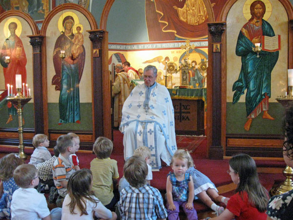 Scene from Children's Sermon For September.
