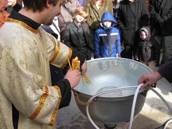 Scene from The Great Blessing Of Water.