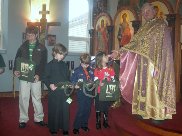 Scene from St. Luke Parish Honors Scouts