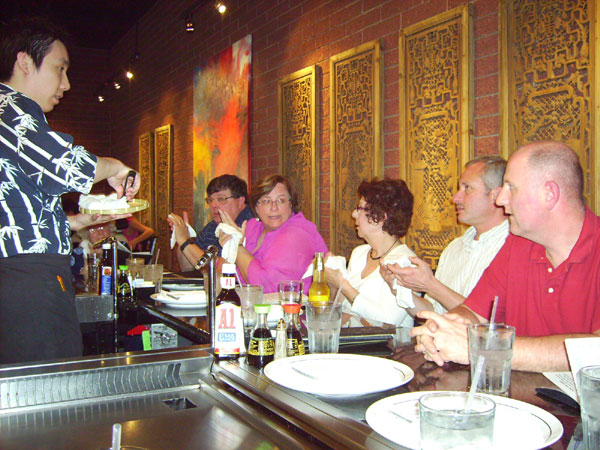 Scene from Restaurant Rovers Visit Chi Tung Habachi Grill.