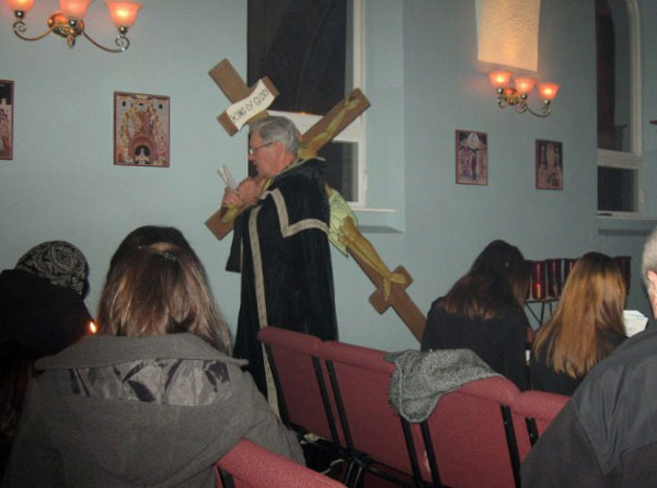 Scene from Holy Week - Reading Of The Passion Gospels.