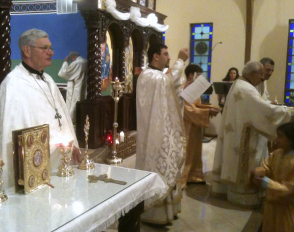 Scene from Father Andrew Attends St. Mary Antiochian Parish Consecration.