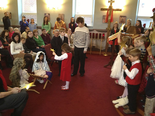 Scene from Church School Christmas Pageant.