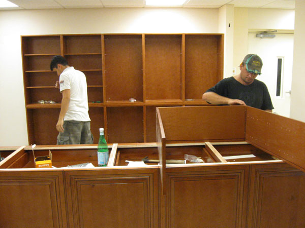 Scene from Bookstore Renovation.