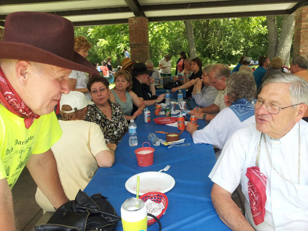 Scene from Annual Quad-Parish Picnic.