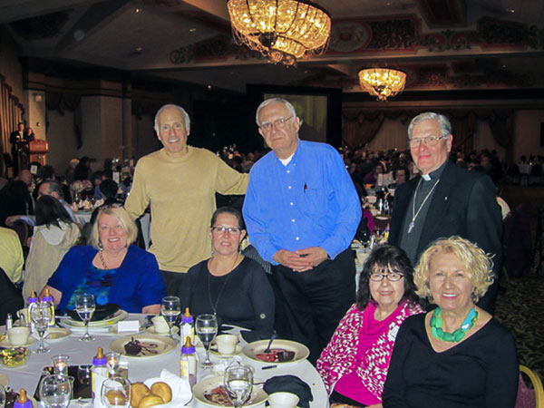 Scene from St. Luke Parish Represented At PASS Banquet.