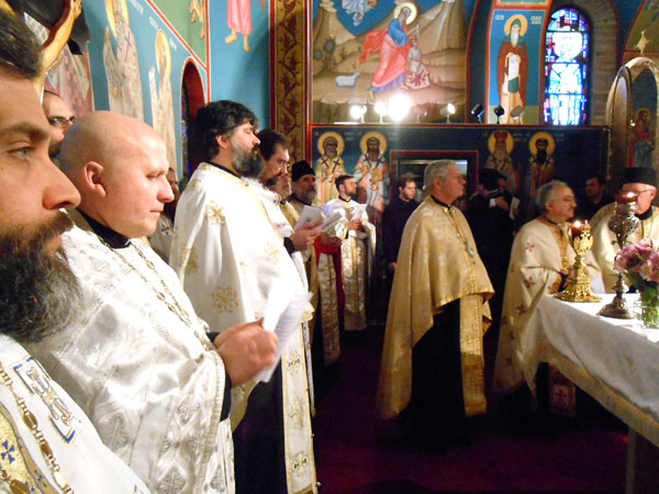 Scene from Sunday of Orthodoxy Vespers.