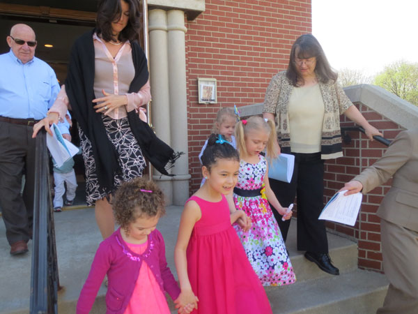 Scene from Agape Vespers And Egg Hunt.