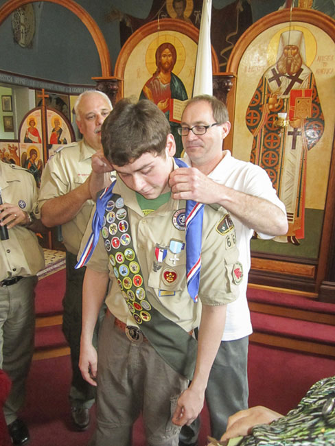 Scene from Eagle Scout Presentation.