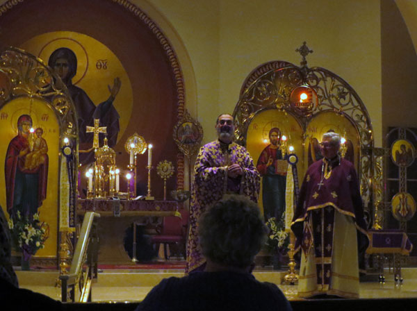 Scene from Saints Constantine and Helen Parish Vists For Presanctified Liturgy.