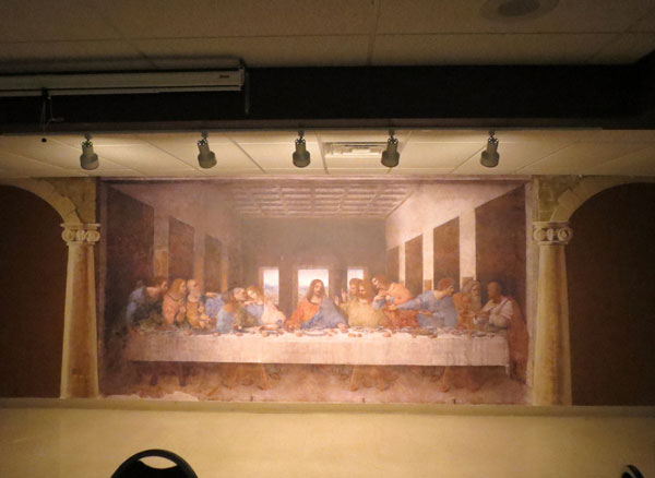Scene from The Last Supper.