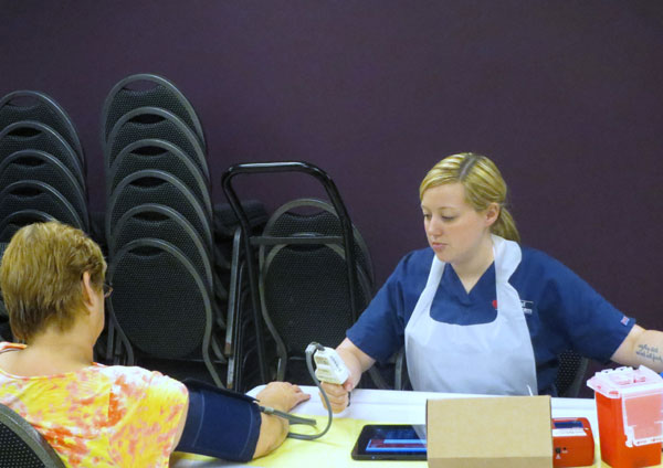 Scene from Annual Blood Drive.