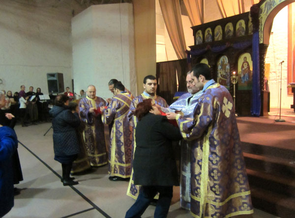 Scene From St. Mary's Hosts Presanctified Liturgy.