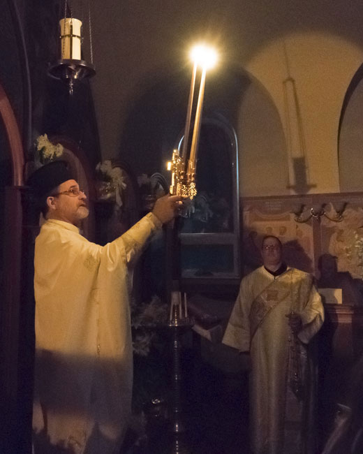 Scene from Holy Week - Pascha Services.