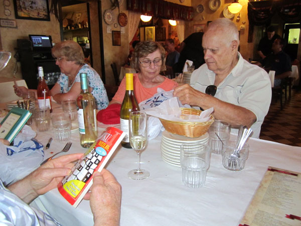 Scene from Food For The Christian Soul Visits Emilio's Tapas.