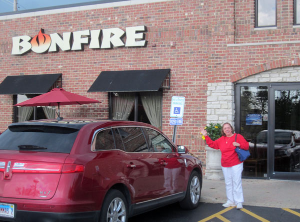 Scene from Food For The Christian Soul Visits Bonfire Steak House.