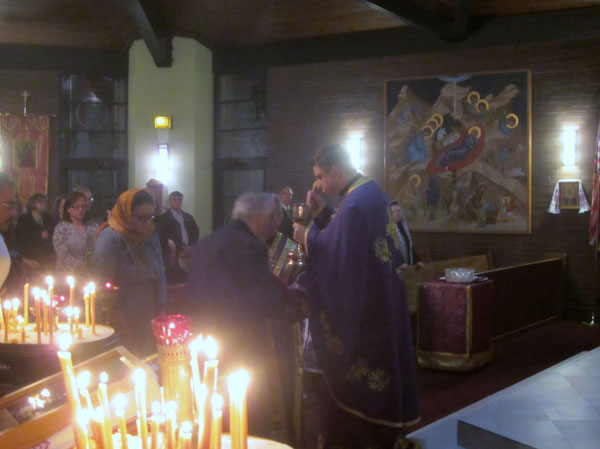 Scene from Sts. Peter And Paul Ukrainian Orthodox Church Hosts Presanctified Liturgy.