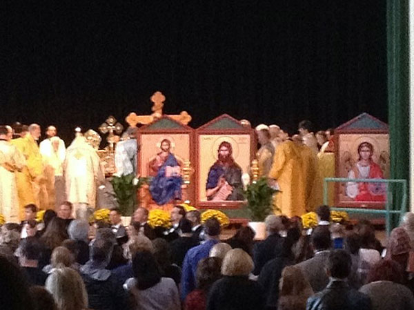 Scene from 125th Anniversary Of Orthodoxy In Chicago.