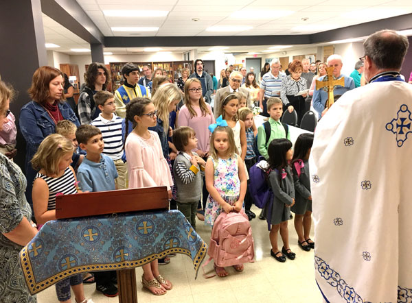 Scene from  Church School Begins With A Blessing.