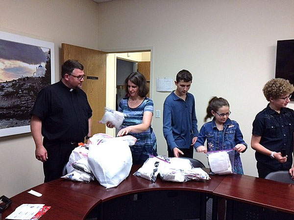 Scene from Youth Help Hurricane Florence Victims.