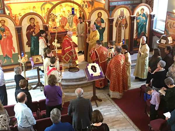 Scene from Bishop Paul, Ordination, And Sunday Of The Cross.