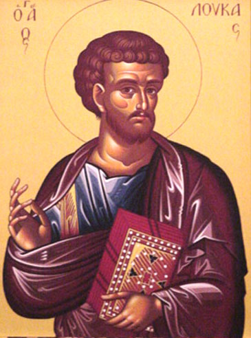 An icon of Apostle and Evangelist Luke.