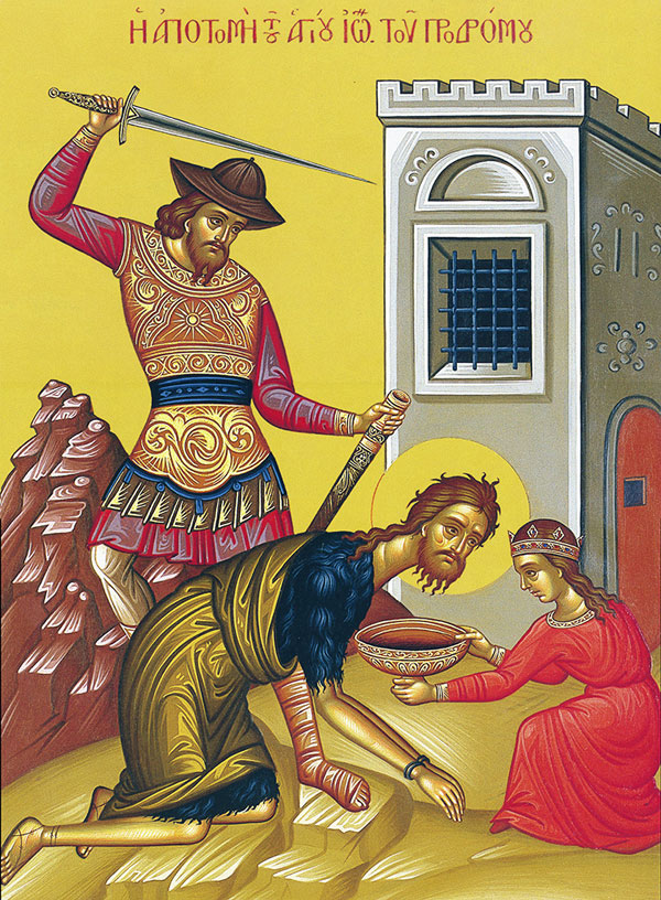 An icon of the Feast the Beheading Of St. John The Baptist.