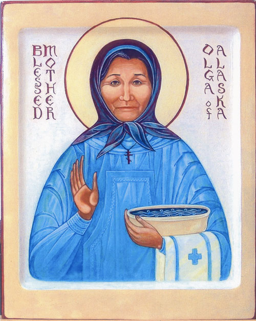 An icon of Blessed Olga of Alaska
