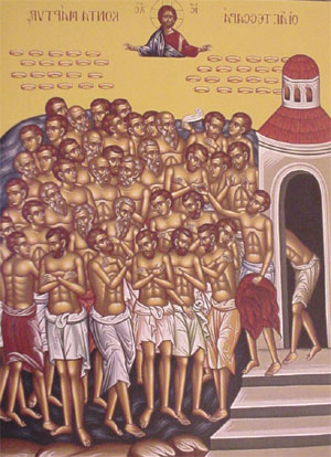 An icon of Forty Holy Martyrs of Sabasta