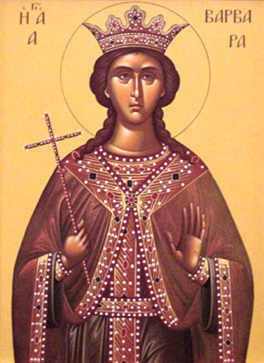 An icon of Greatmartyr Barbara.