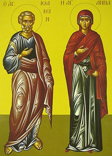 An icon of Joachim And Anna.