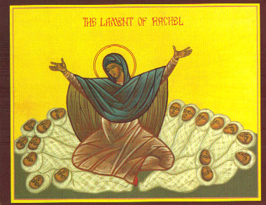 An icon of the Lament of Rachel.
