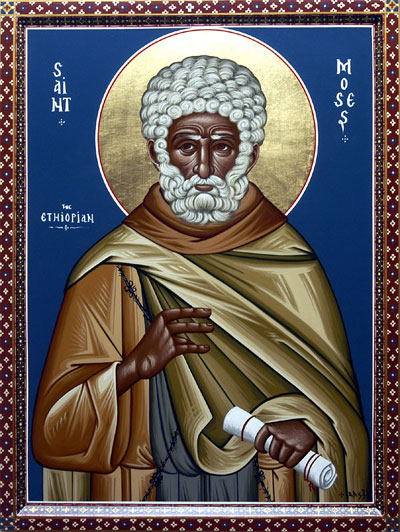 An icon of Venerable Moses the Black of Scete.